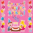 Happy Birthday card — Stock Vector #58661999