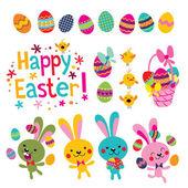 Happy Easter design elements set — Stock Vector