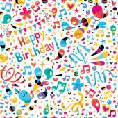 Birthday pattern — Stock Vector