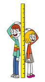 Medida de la altura — Vector de stock