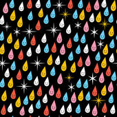 Cute rain pattern — Stock Vector