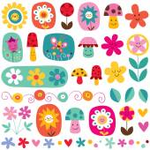 Cute flowers pattern — Stock Vector