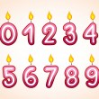 Birthday number candle set — Stock Vector #58680551