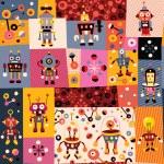 Robots pattern — Stock Vector #58681037