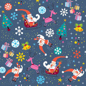 Santa Claus Christmas pattern — Stock Vector
