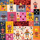 Robots pattern — Stock Vector