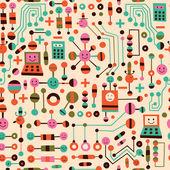 Cartoon circuit board — Stock Vector