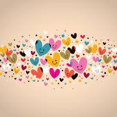 Cute hearts — Stock Vector