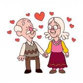 Old couple — Stock Vector