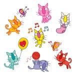 Cute kittens set — Stock Vector #58756293