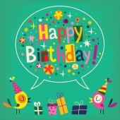 Carta di buon compleanno — Vettoriale Stock