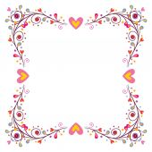 Decorative frame with hearts — Stock Vector
