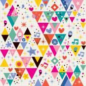 Fun triangles background — Vetor de Stock