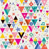Fun triangles background — Stock Vector