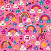 Rainbows pattern — Stock Vector