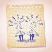 Two penniless businessmen — Stock Vector