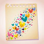 Love hearts cartoon illustration — Stockvector