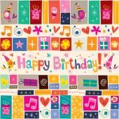 Szczęśliwy kartka urodzinowa — Wektor stockowy