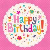 Cartão de feliz aniversário — Vetor de Stock