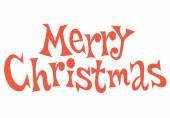 Frohe Weihnachten-Text-Schriftzug — Stockvektor