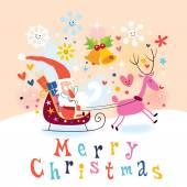 Cartão do feliz natal — Vetor de Stock