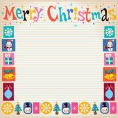Merry Christmas retro wenskaart — Stockvector