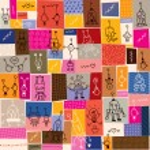 Cute robots cartoon doodle pattern — Stock Vector #58810689