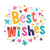 Best Wishes card — Stock Vector