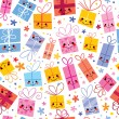 Cute gifts seamless pattern — Vector de stock  #58831197