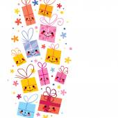 Cute gifts background — Stock Vector