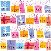 Gifts present boxes — Stock Vector