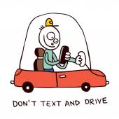 Don't text and drive — Stock Vector