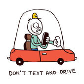 Don't text and drive — Vector de stock