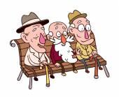 Three old man — Stock Vector