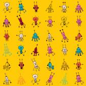 Cute cartoon robot seamless pattern — Vettoriale Stock