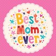 Happy Mothers Day card — Stock Vector #58889833