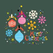 Merry Christmas retro greeting card — Stock Vector