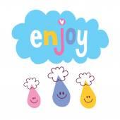 Enjoy card — Stock Vector