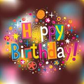 Alles Gute zum Geburtstagskarte — Stockvektor