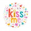 Kiss me retro card — Stock Vector #58895715
