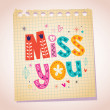 Miss you card — Stock Vector #58899307