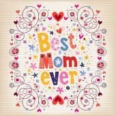 Tarjeta del día de las madres felices — Vector de stock