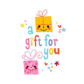 A gift for you card — Stockvektor