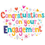 Congratulations on your engagement card — Vecteur