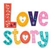 Love story card — Vecteur