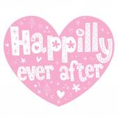 Happily ever after heart shaped — Stockvektor