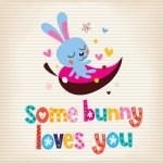 Some bunny loves you card — Stock Vector #58906623