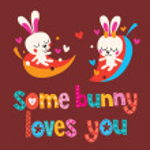 Some bunny loves you card — Stock Vector #58906661