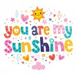 You are my sunshine card — Stock Vector #58907869