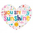 You are my sunshine card — Stock Vector #58907891